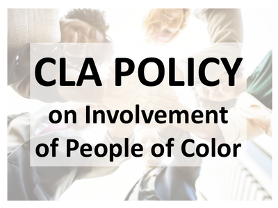 CLA Policy on Involvement of People of Color