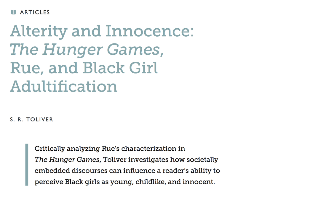 Toliver: Alterity and Innocence: The Hunger Games, Rue, and Black Girl Adultification